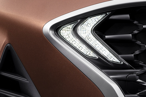 Closer view of front fog lamp