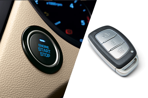 Smart key and engine start and stop button