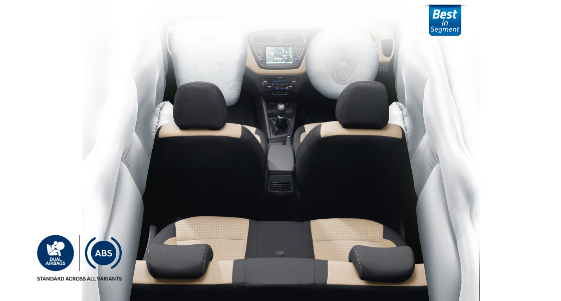Air bags simulated on front seats