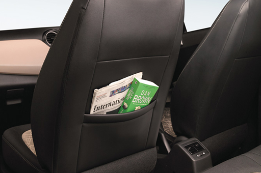 Books stored in the seat pocket