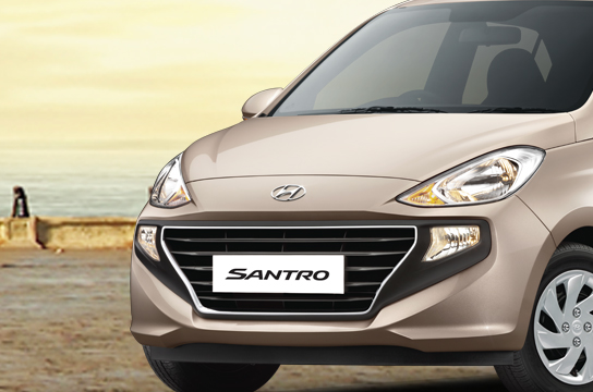 Right Side front view of the all new Santro car in Nepal