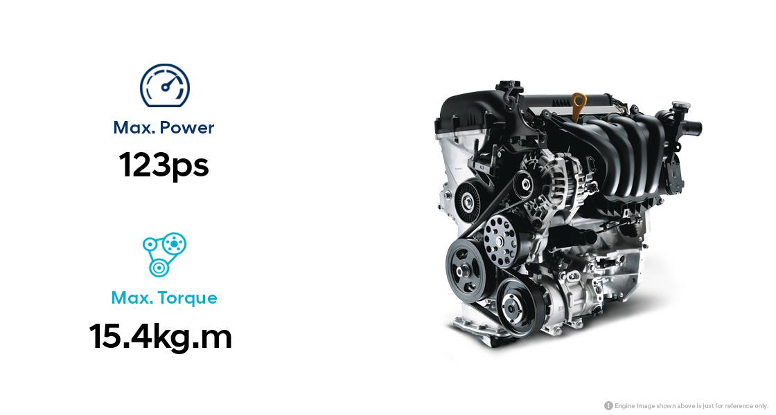 Infographic of 1.0 MPi gasoline engine performance