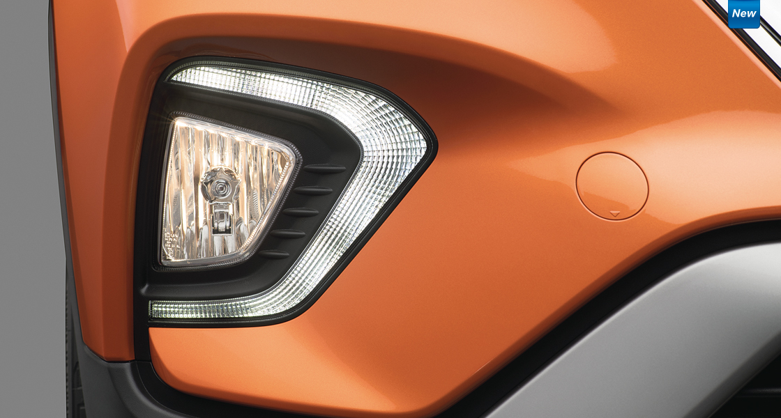 Right vertical front fog lamp