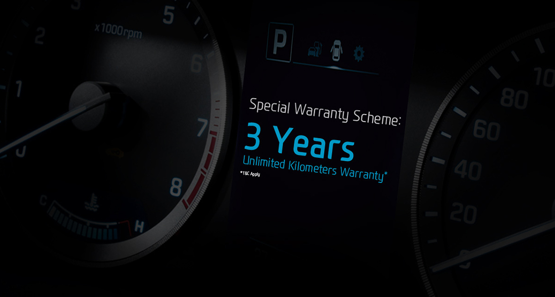 Cluster image with the special warranty scheme written on