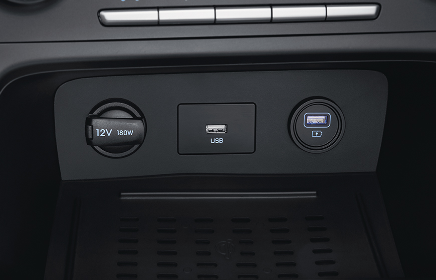 Front and rear power outlets