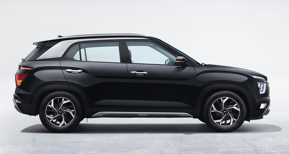 Side view of silver Creta