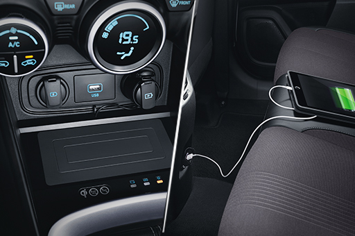 Front & Rear Power Outlet and USB Charger