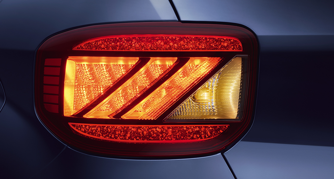 LED Tail Lamps with Crystal effect