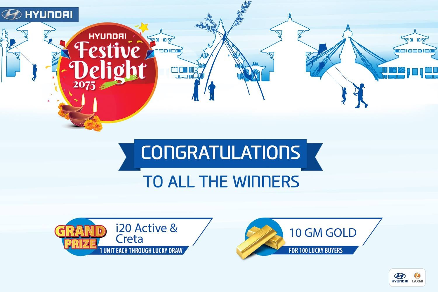 Winners of Hyundai Festive Delight 2075